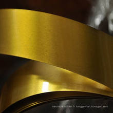 Bande de fer-blanc électrolytique laquée d'or pour les extrémités ouvertes faciles