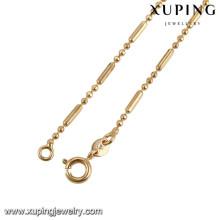 43282 Xuping artificial banhado a ouro colar de moda para presentes de natal