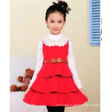 de haute qualité dernière enfants robes conceptions enfants robe d'hiver
