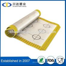 FDA reutilizables Aniti deslizamiento Hot Sell alimentos grado fácil de usar alfombra abking de silicona para la cocina