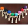 Завод оптовая дешевые резиновые расписные деревянные kendama игрушки