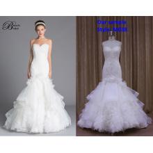 Vestido de novia vestido de fiesta blanco cremoso superior