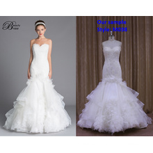 Топ кремообразную белые Платье свадебное платье