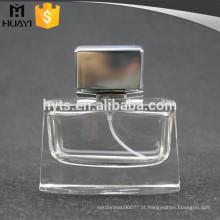Frasco de perfume diminuto de 50ml com cao de alumínio