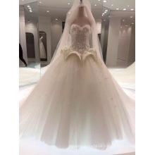 Bodenlanges Schatz-Hochzeits-Hochzeits-Kleid mit speziellem Entwurf auf Taille
