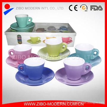 Vente en gros de théière en thé blanc et ensembles de soucoupe