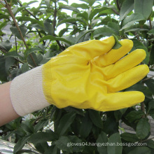 Nitrile Dipped Gloves Labor Protective Safety Work Glove Yellow