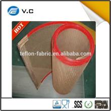 Échantillon gratuit Chimie et médecine Industries de séchage Utiliser des ceintures Mesh en fibre de verre revêtue en téflon Sans bâton PTFE Open Mesh Conveyo