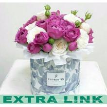 China-Lieferanten-ausgezeichneter kundenspezifischer Design-Pappkreis-Blumen-Verpackenkasten mit Öse und Band