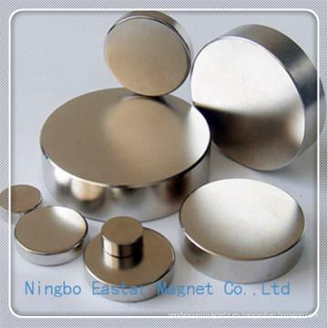 Alta calidad disco de imán de NdFeB Permanente para altavoces
