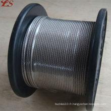 6x19 fc galvanisé 2mm câble d'acier