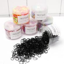 500pcs Baby Elastic kids hair ties scrunchies rubber custom hair tie Band bracelet hair Accessories