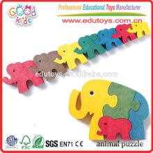 Hartholz bildete nettes DIY Spielzeug 5 färbt Entwurfs-neues Tierpuzzlespiel-Spielzeug