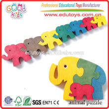 Hardwood Made Cute DIY Toy 5 cores Design New Animal Puzzle Toy
