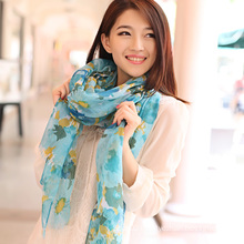 Polyester Voile Printed Shawl (12-BR250313-14.3)