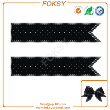 fancy rhinestone cheer bow strips transfer