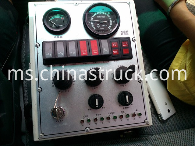 sweeper truck control plate