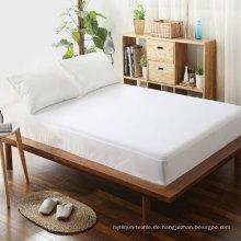 Neue Ankunft Großhandel Komfortable Plain White Spannbetttuch (DPFP8050)
