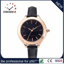 Novos relógios de quartzo de couro de moda