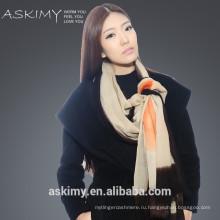 2015 горячая продажа новый дизайн 100% шерсть стороны окрашены шарф