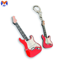 Porte-clés guitare personnalisé en métal cadeau souvenir