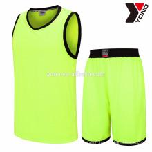 Meilleur prix basket-ball jersey nouveau modèle uni uniforme 2017