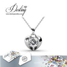 Destin bijoux cristal de Swarovski tout simplement l'amour pendentif & collier