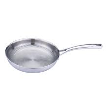 Sartén de cocina de acero inoxidable patten en relieve