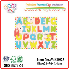 2015 learning Inset puzzle lowercase alphabet wooden educational aides