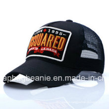 Fashion Breathable Baseball Sport Mesh Hat with 3D Embroidery Pattern