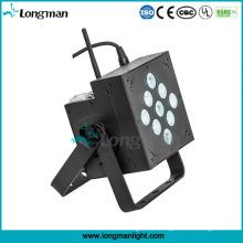Indoor 9X10W sem fio + bateria LED PAR luz
