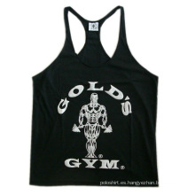 Black Sugar Y Back Stringer Tank Top