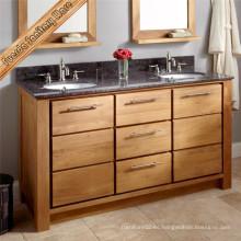 Gabinete de baño clásico de madera maciza