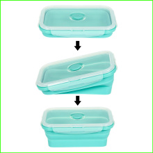 Caixa de lanche dobrável em silicone novo design