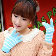Леди мода полосой трикотажные зимние Сенсорный экран волшебные перчатки (YKY5441)