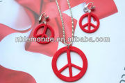 New costume fashion jewelry set for necklace and earrings