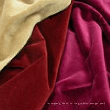 100% tela de terciopelo de algodón para la ropa
