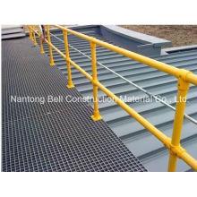 Main courante en fibre de verre pour escaliers, passerelles et rampes / caillebotis en fibre de verre