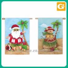 Venta al por mayor hermoso stand de bandera de jardín de Navidad