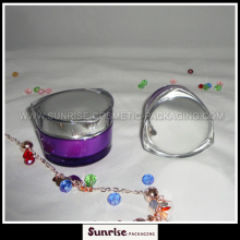 30g 50g Purple Heart Shape Acrylic Cream Packaging Jar