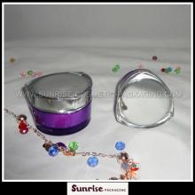 30g 50g Purple Heart Shape acrylique emballage crème pot
