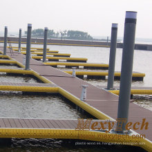 WPC Solid Decking / Marina Dock Plataforma de piso: 140 * 25 mm