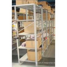 Système d'étagères à rangement de rangement moyen