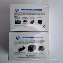 Carte de nettoyage d'atmosphère / PVC / imprimante carte de nettoyage