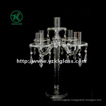 Glass Candle Holders for Party Decoration with Five Posts (10*24*32.5)