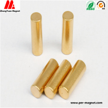 Compeittive Cylindrical NdFeB Neodymium Magnet with Au Coating