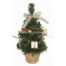 Decoración al por mayor de los árboles de tabla pequeños baratos de Navidad