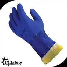 SRSAFETY aramid fiber & terry cloth lined industrial rubber gloves