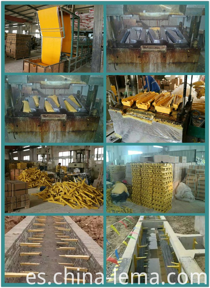 production of the fiberglass reinforced cable holder