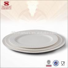 porcelaine fabricants plaque ronde en céramique pour hôtel plaque de dîner en porcelaine